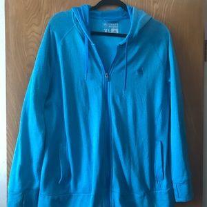Fleece lined full zip adidas jacket